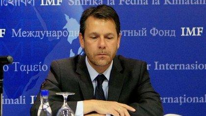 El jefe de la misión del FMI para Argentina, Luis Cubeddu, encargado de negociar un nuevo acuerdo que podría restaurar parte de la confianza de los mercados