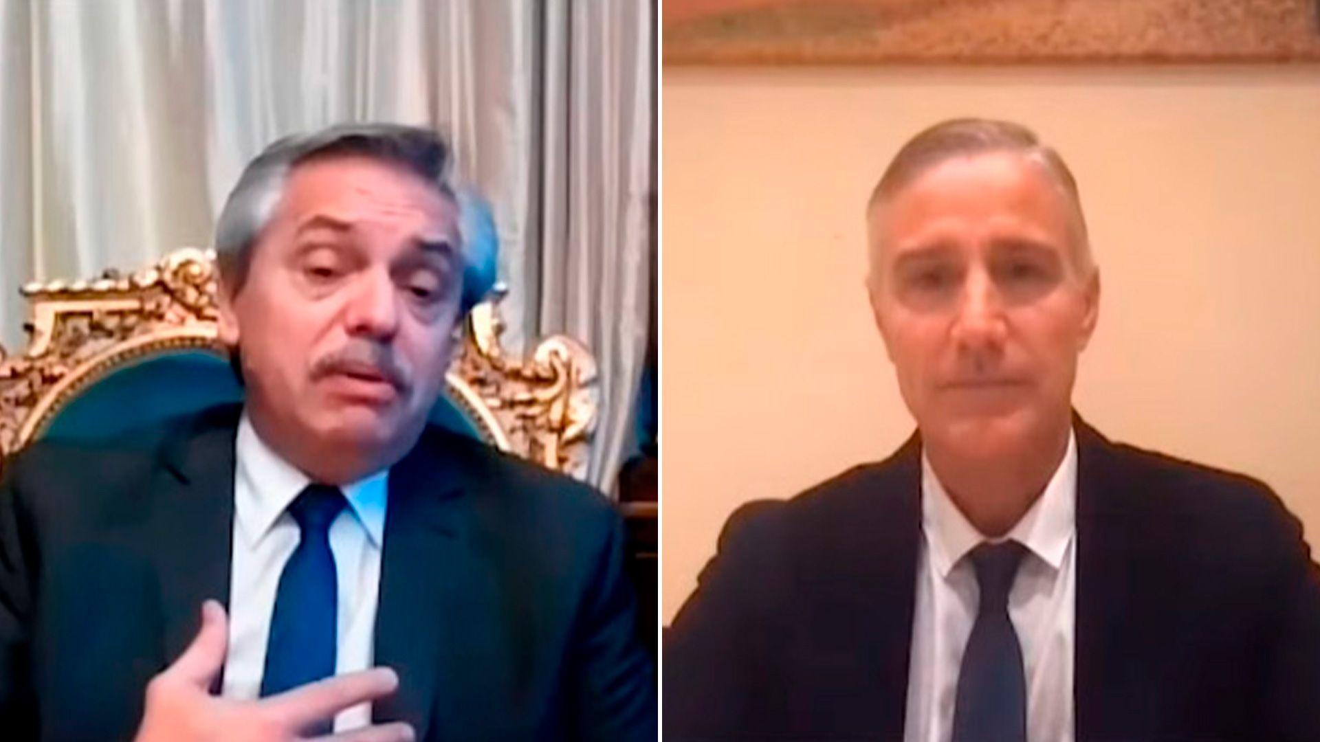 Videoconferencia entre Alberto Fernández y el presidente de Laboratorios Richmond