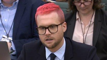 Christopher Wylie, ex empleado de la firma Cambridge Analytica (AFP)