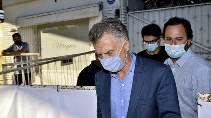 Mauricio Macri fue uno de los primeros en dejar la reunión de Juntos por el Cambio (Foto Gustavo Gavotti)