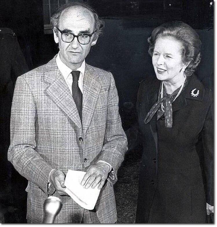 El ministro de Defensa británico John Nott fue interpelado en la Cámara de los Comunes el mismo día del ataque al Sheffield.(Stephen Luscombe/Britishempire.co.uk)