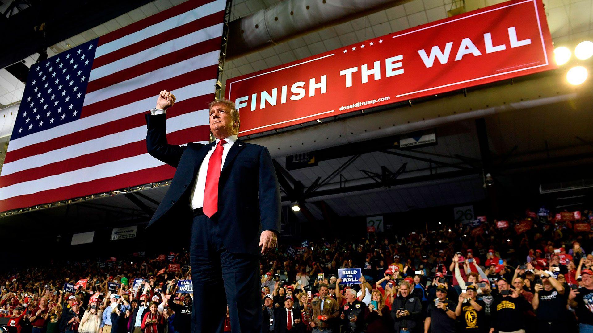 Donald Trump en un acto político en El Paso, Texas, el 11 de febrero de 2019 (AP Photo/Susan Walsh)