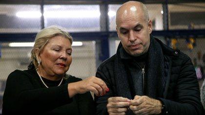 Elisa Carrió y Horacio Rodríguez Larreta (NA)