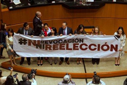La oposición se ha mostrado tanto en contra de la reelección como de la revocación de mandato (Foto: Andrea Murcia/ Cuartoscuro)