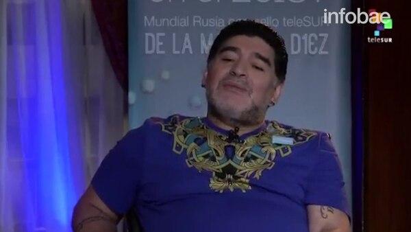 Maradona, íntimo: contó hace cuánto no se droga, el repudio a Macri y su apoyo a Venezuela