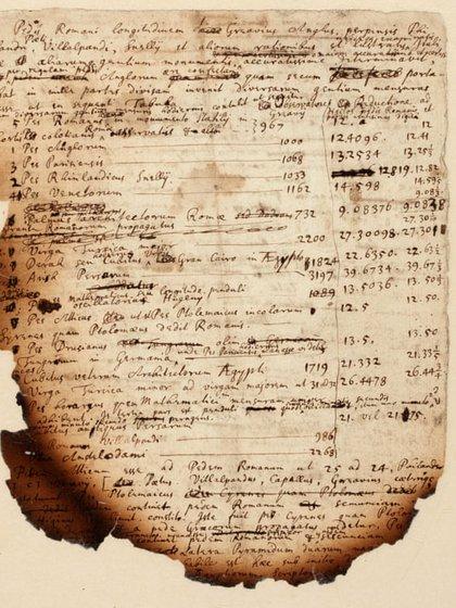El manuscrito quemado de Newton.