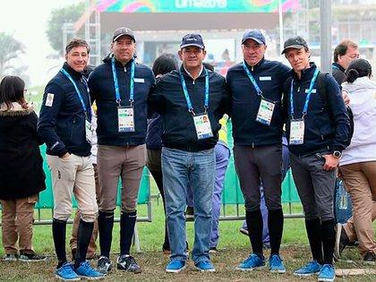El equipo de ecuestre argentino (Prensa COA)