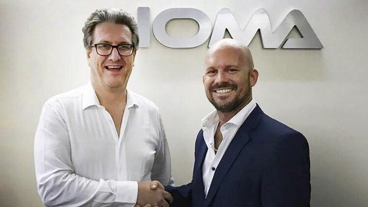 Presidente de IOMA, Pablo Di Liscia, con Nicolas Galoppo, empresario cuestionado por SUPTTIOMA