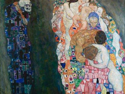 """""""Vida y muerte"""" (1915) en Museo Leupold, Viena"""