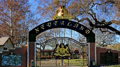 El ingreso a Neverland, el rancho de Michael Jackson en California (AP)