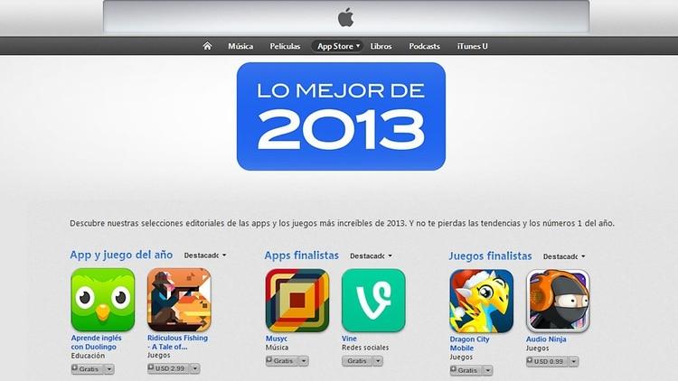 Lo Mejor De La App Store En 2013 Infobae