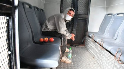 El secuestrador, tras ser detenido