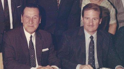 Juan Domingo Perón con Jorge Daniel Paladino en Madrid