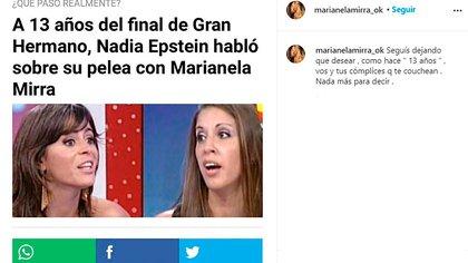 Marianela Mirra: (Foto: Instagram)