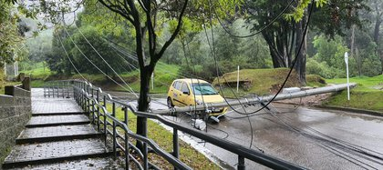Accident caused by heavy rains in Bogotá.  Photo: Private archive.