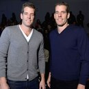 NEW YORK, NY - FEBRUARY 08: Tyler and Cameron Winklevoss attend the Nautica Men's Fall 2013 fashion show during Mercedes-Benz Fashion Week at The Stage at Lincoln Center on February 8, 2013 in New York City. (Photo by Michael Loccisano/Getty Images for Mercedes-Benz Fashion Week)