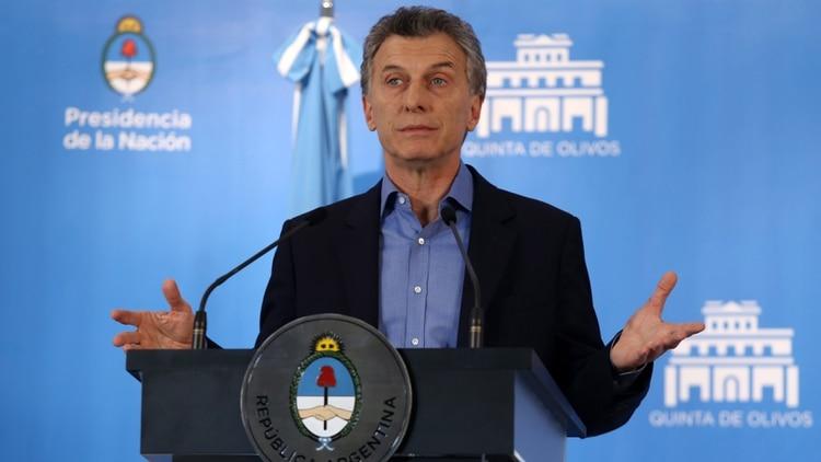 Mauricio Macri, presidente de la Nación y candidato por Juntos por el Cambio (NA)
