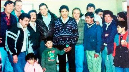 Sergio Berni junto a Néstor Kirchner y el ex intendente de 28 de Noviembre, Jorge Ivanissevich, en Santa Cruz
