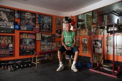 Castellini, hoy, en su gimnasio de la Ciudad de Buenos Aires