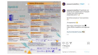 Prográmese con la cultura literaria de Popayán ciudad libro hasta el 1 de noviembre.