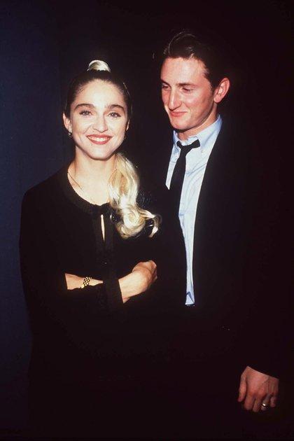 La pareja durante el cumpleaños de Madonna en 1987