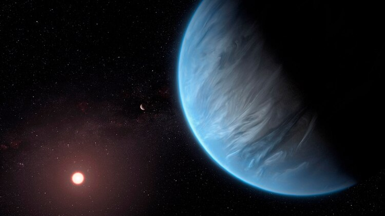 El planeta K2-18b, donde los científicos británicos descubrieron vapor de agua (EFE)