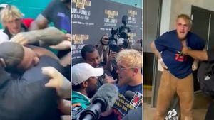 Escándalo en Miami: Floyd Mayweather se trenzó a golpes con el youtuber Jake Paul, hermano de su próximo rival