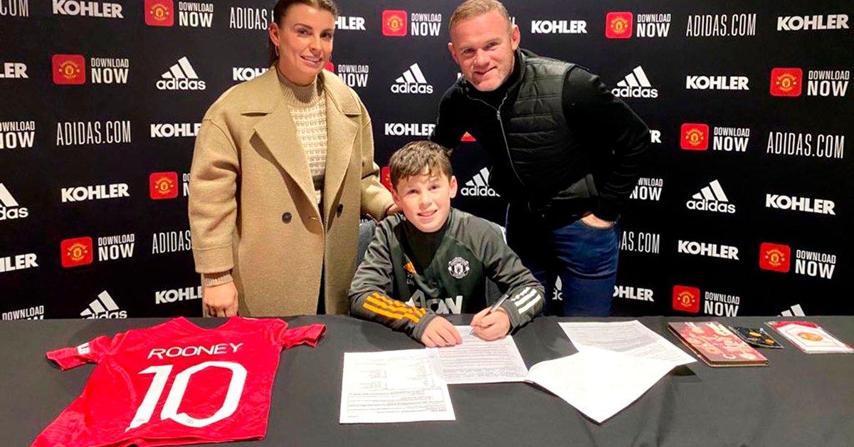 Manchester United fichó al hijo del legendario Wayne Rooney - Infobae