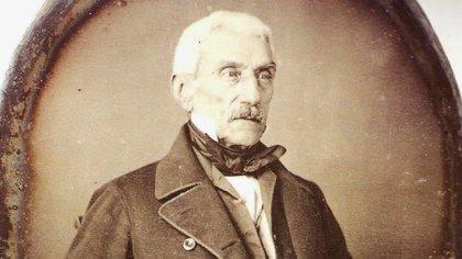 José de San Martín en un daguerrotipo de 1848, a los 70 años. Es la única fotografía del Libertador