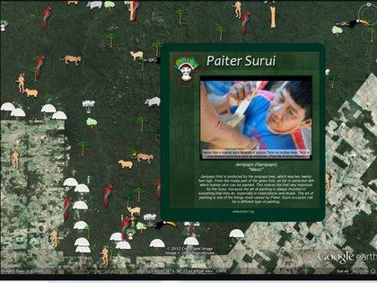 El pueblo Suruí construyó su Mapa Cultural en Google Earth que incluía cientos de sitios culturales de importancia en su selva tropical.