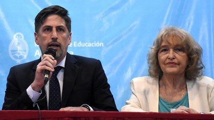 Puiggrós tenía diferencias con el ministro Nicolás Trotta (Nicolás Stulberg)