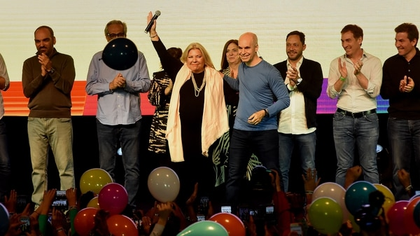 Carrió ganó con el 50% de los votos en la Ciudad de Buenos Aires (Nicolas Stulberg)