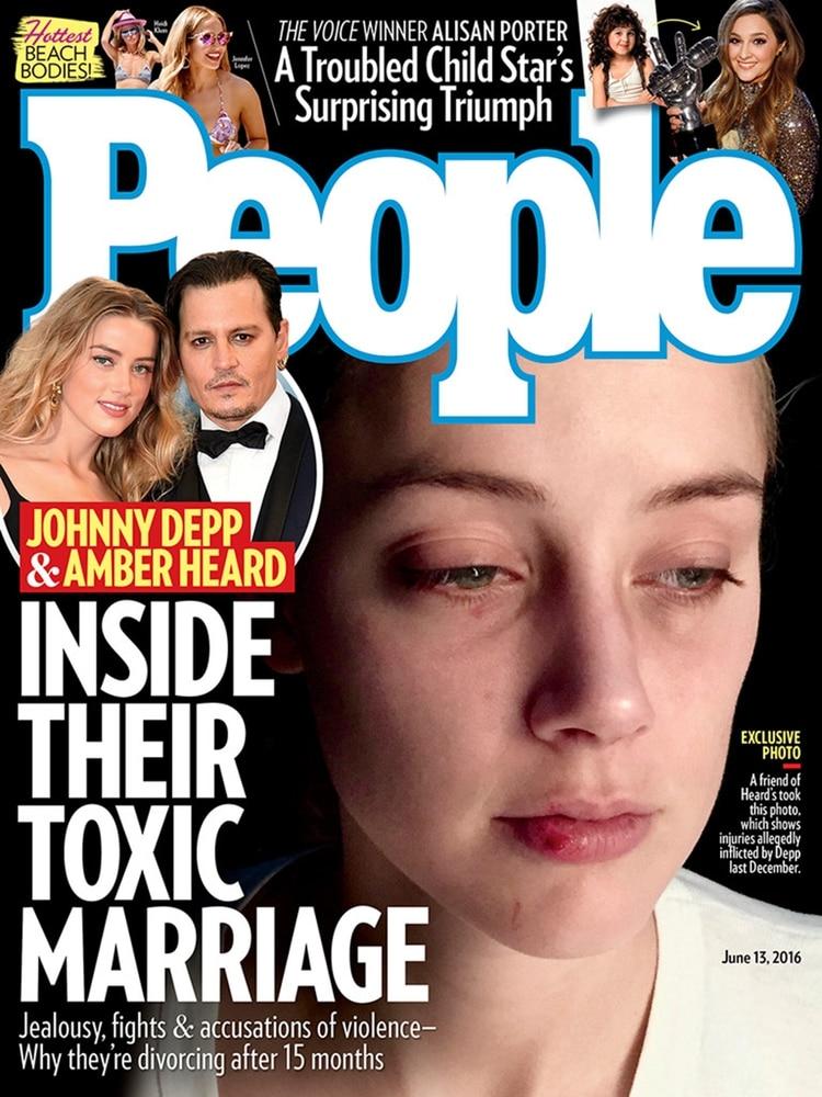 La actriz Amber Heard denunció por maltrato a Johnny Depp