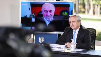 Alberto Fernández, este viernes en Olivos (Presidencia)