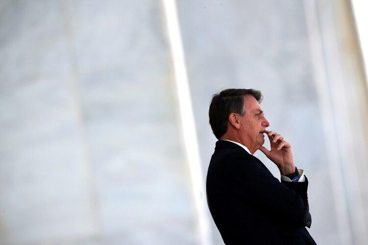 El presidente de Brasil, Jair Bolsonaro, en el Palacio de Planalto (REUTERS/Ueslei Marcelino)