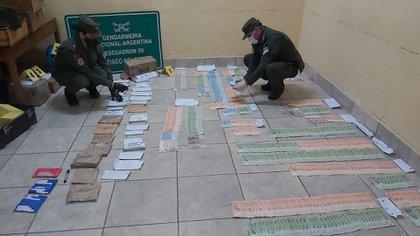 Parte del último secuestro realizado por Gendarmería.