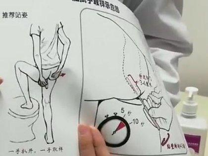 Un video que circuló en línea muestra a un médico sosteniendo una demostración visual del procedimiento