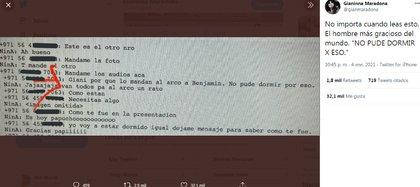 El diálogo entre Diego y Gianinna Maradona, años atrás