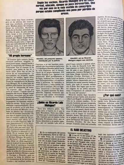 Artículo de Revista Gente con dos identikits