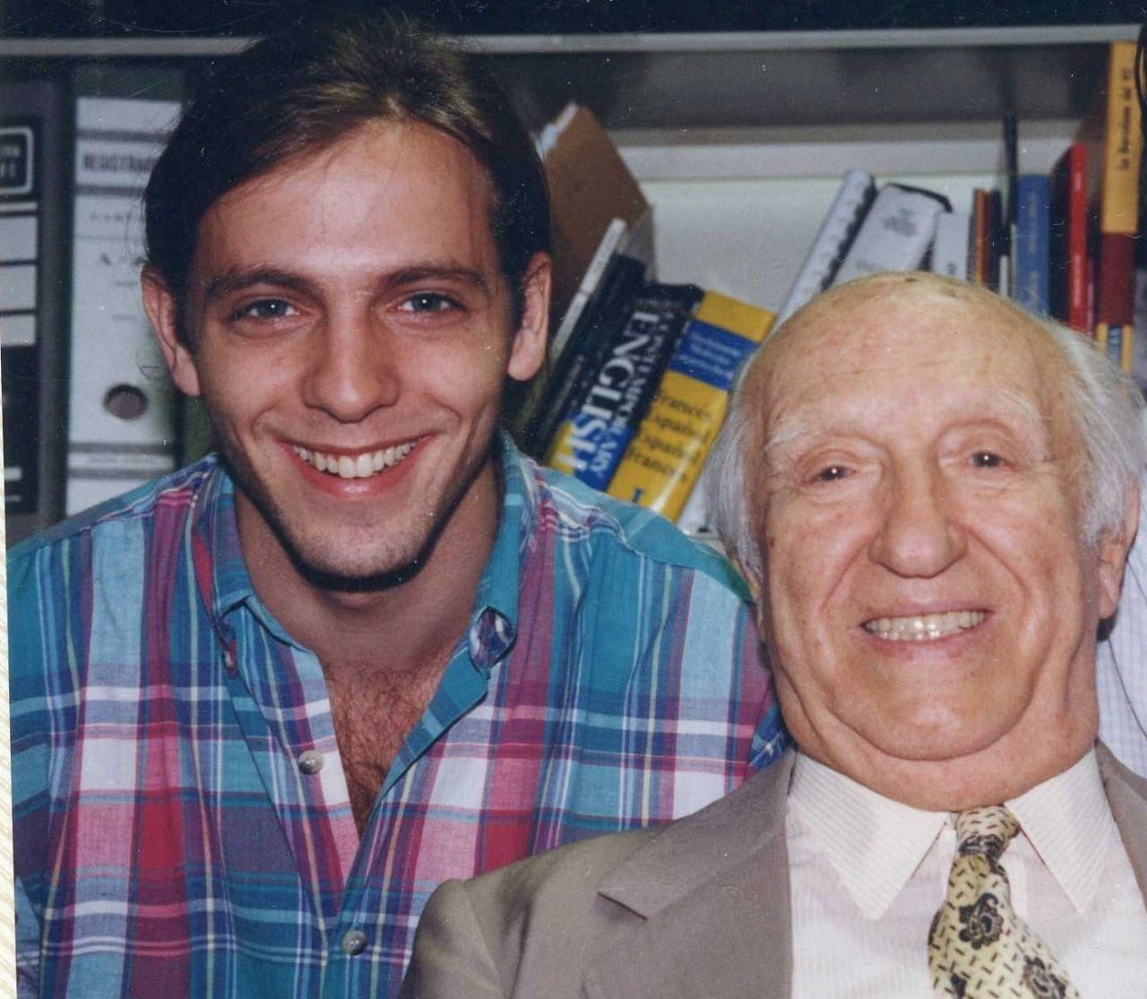 Zarnicki con el gran Miguel Najdorf, y una discuión inicial que los unió.
