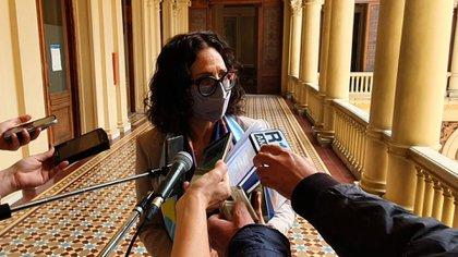 La vicejefa de Gabinete, Cecilia Todesca, habló con los medios al término del encuentro