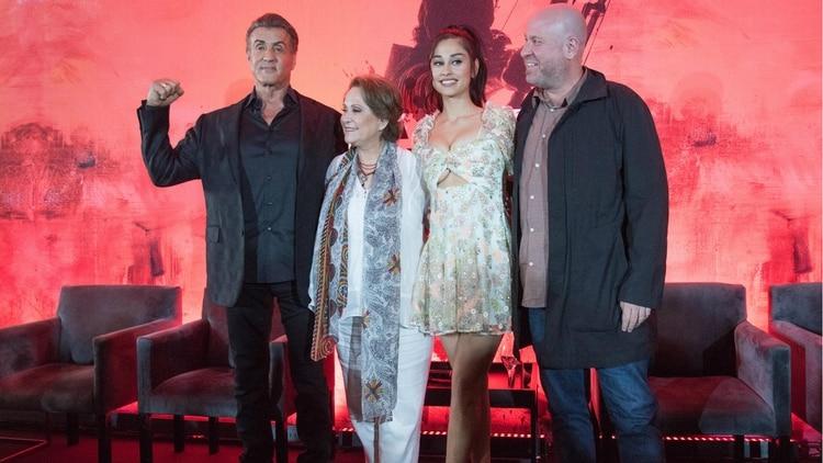 Sylvester Stallone, Adriana Barraza, Yvette Monreal y Adrian Grunberg promocionaron la cinta en la Ciudad de México (Foto: Cuartoscuro)