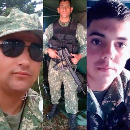 Alex Guillenea, Alan Rodríguez y Juan Escobar
