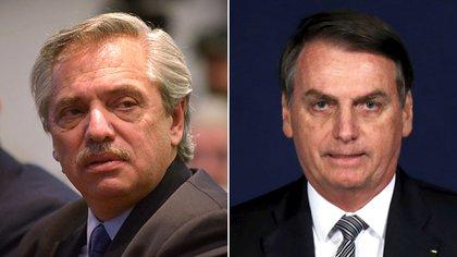 Alberto Fernández y Jair Bolsonaro
