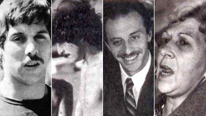 Las víctimas del clan: Eduardo Aulet, Ricardo Manoukian, Emilio Naum y Nélida Bollini de Prado