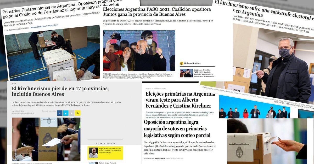 Los medios internacionales reflejaron la derrota de Alberto Fernández en  las elecciones primarias de Argentina - Infobae