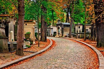 El cementerio más grande de París, el Père-Lachaise, cuenta con 70.000 parcelas funerarias