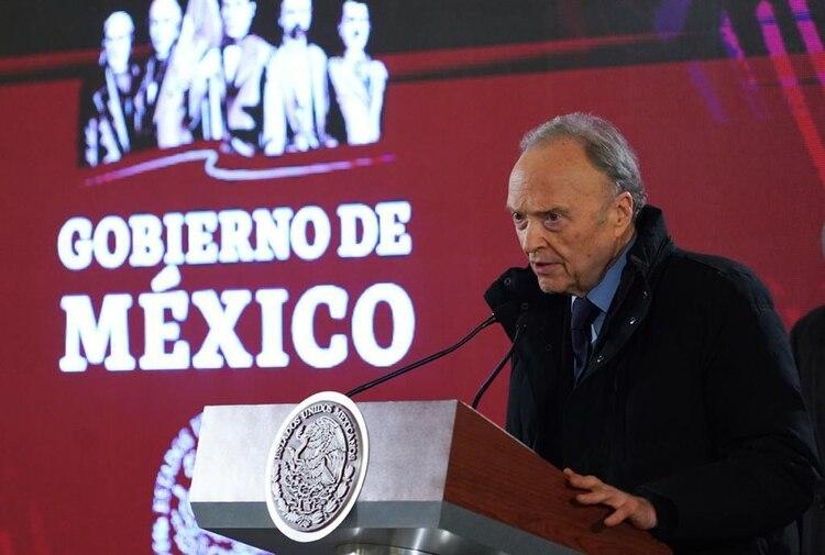 Alejandro Gertz Manero informó que ya se abrió la carpeta de investigación (Foto: Cortesía)