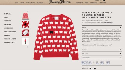 El suéter de la princesa Diana se vende en Rowing Blazers, el comercio estadounidense que solicitó a Sally Muir y Joanna Osborne, las diseñadoras originales, permiso para reeditarlo.