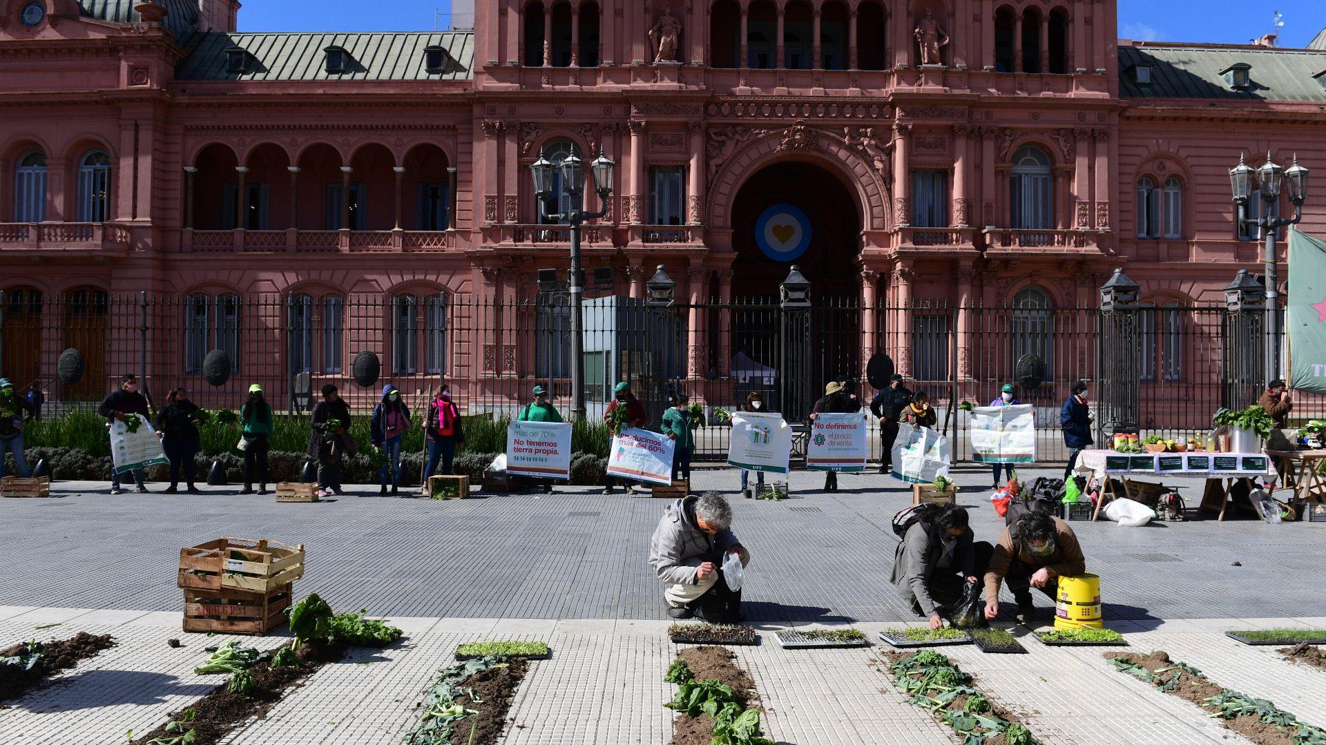Huerta granja en Plaza de Mayo UTT